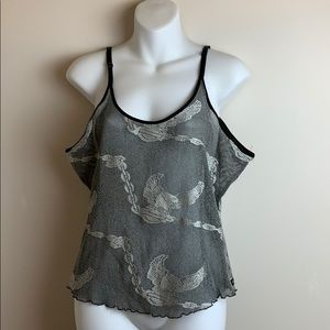 HARLEY DAVIDSON Authentic Cropped Eagle Sheer Tank